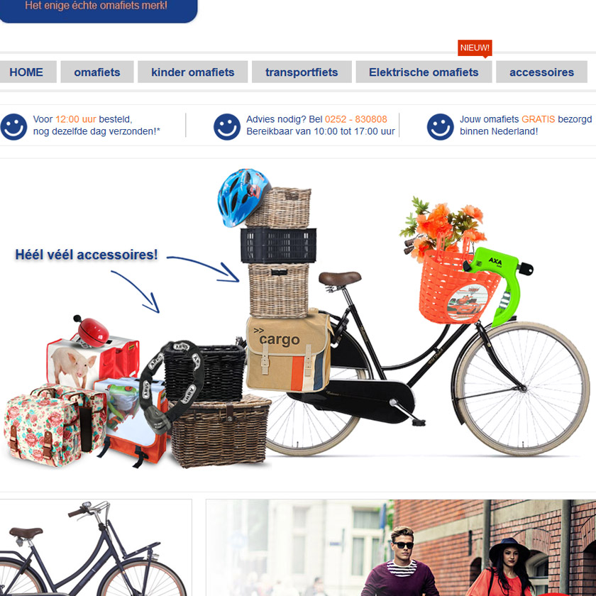 Omafiets.nl-design-template-magento-webshop